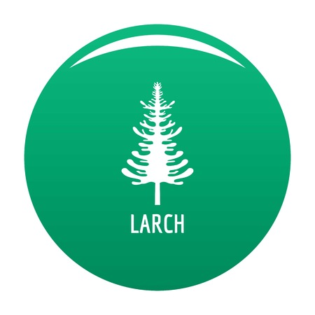larch tree icon. Simple illustration of larch tree vector icon for any design green Illustration