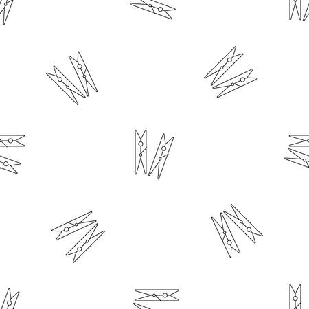 Clothes pegs icon. Outline illustration of clothes pegs vector icon for web design isolated on white background 矢量图像