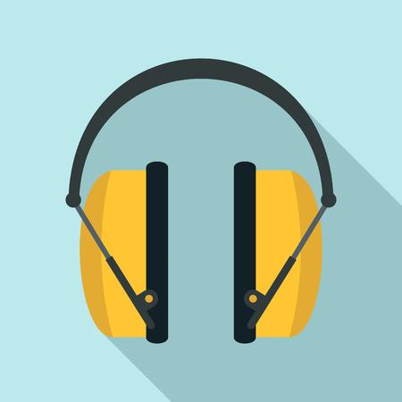 Noise headphones icon, flat style