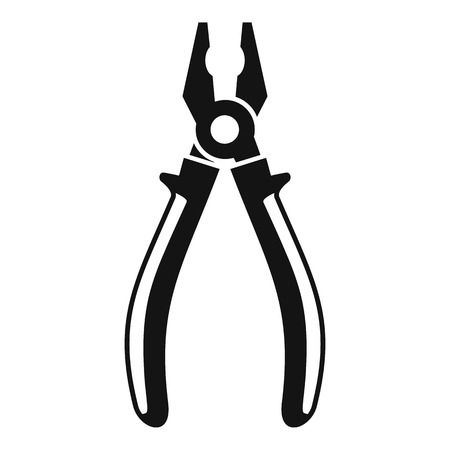Pliers tool icon, simple style Standard-Bild - 114353953