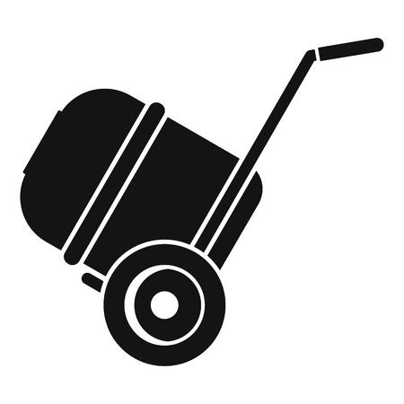 Concrete mixer icon, simple style Stok Fotoğraf