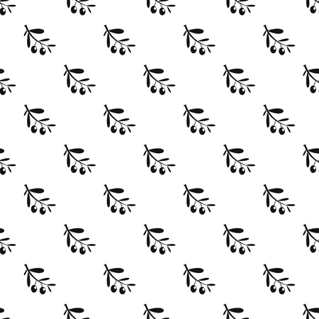 Branch of olives pattern seamless