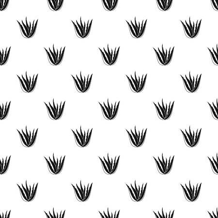 Aloe vera plant pattern seamless Imagens