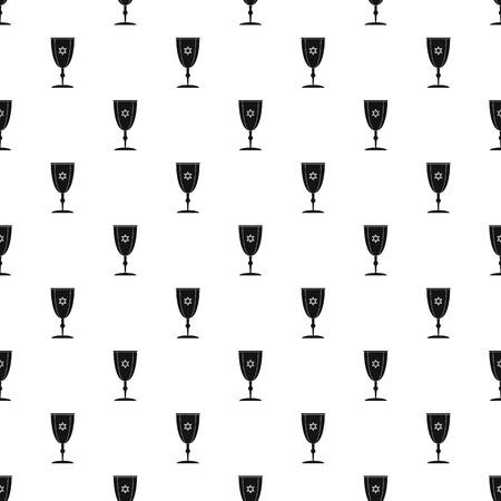 Judaism cup pattern seamless Stock Photo