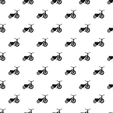 Boy tricycle pattern seamless 免版税图像
