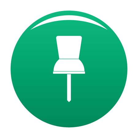 Pin icon vector green