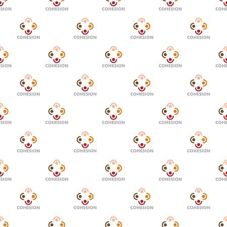 Cohesion pattern seamless vector