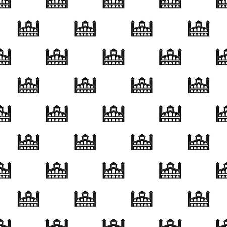 Historical building pattern seamless vector repeat geometric for any web design  イラスト・ベクター素材