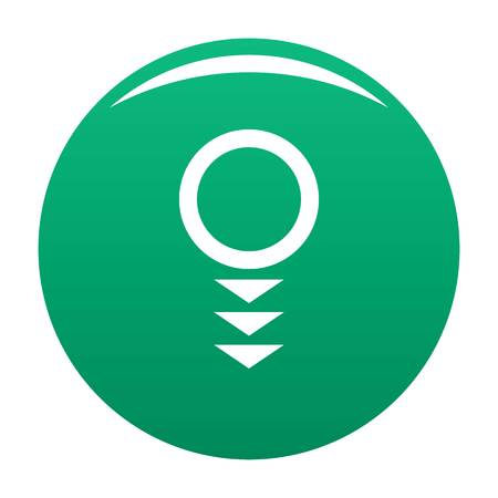 Round arrow icon vector green