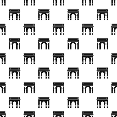Historical arch pattern seamless vector