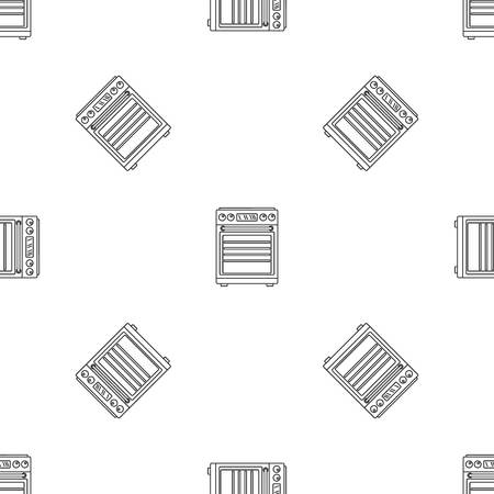 Gas cooker icon. Outline illustration of gas cooker vector icon for web design isolated on white background