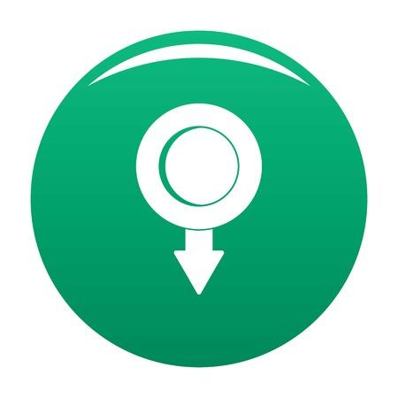 Pushpin icon vector green 일러스트