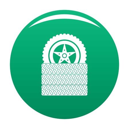Tire leap icon vector green Vectores