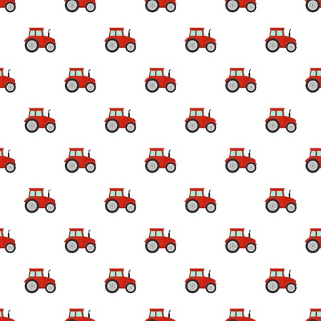 Red tractor pattern seamless vector repeat for any web design Illustration