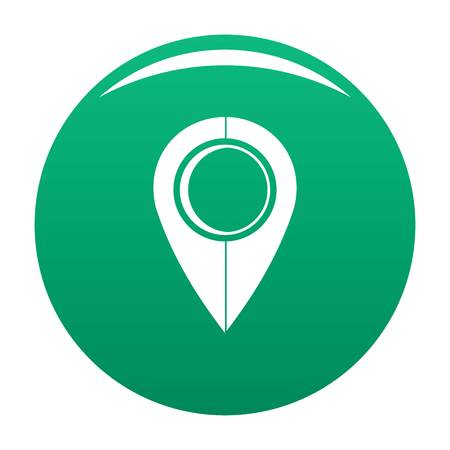Map pin icon vector green
