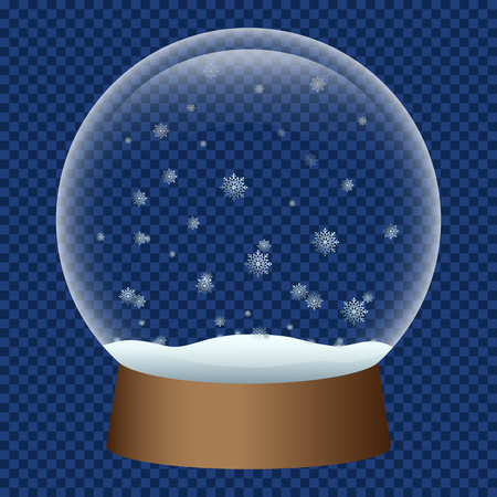 Snowglobe icon. Realistic illustration of snowglobe vector icon for web design