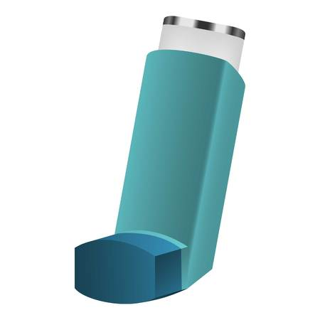Inhaler icon. Realistic illustration of inhaler vector icon for web design