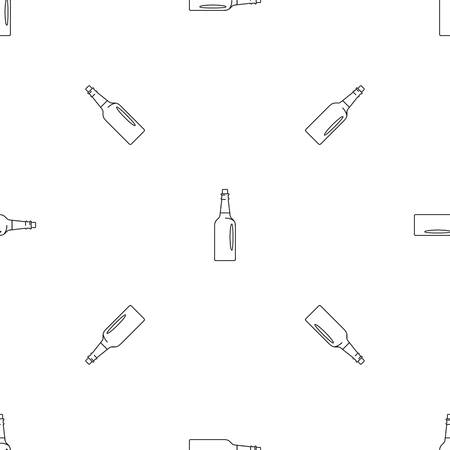 Fine olive oil bottle icon. Outline illustration of fine olive oil bottle vector icon for web design isolated on white background Ilustração