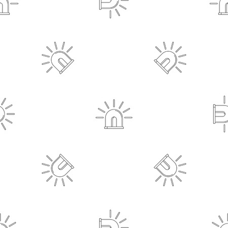 Light police icon. Outline illustration of light police vector icon for web design isolated on white background Çizim