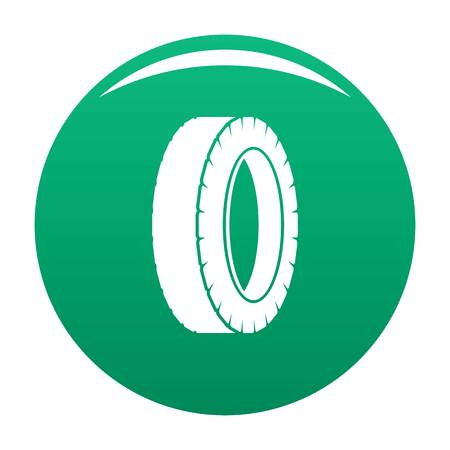 Turning tire icon vector green