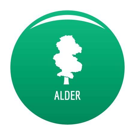 Alder tree icon. Simple illustration of alder tree vector icon for any design green