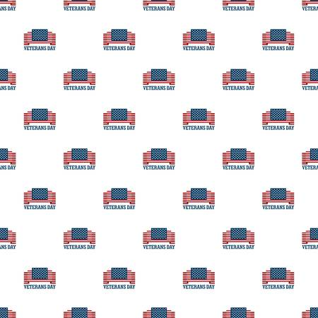 Usa veterans day pattern seamless vector