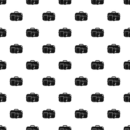 Apple lunch box pattern seamless vector repeat geometric for any web design Illustration