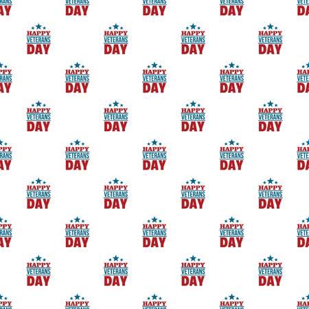 Happy veterans day pattern seamless vector