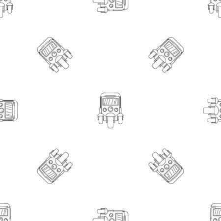 Auto rickshaw icon. Outline illustration of auto rickshaw vector icon for web design isolated on white background Vetores