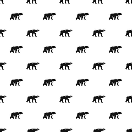 Male polar bear pattern seamless vector repeat geometric for any web design