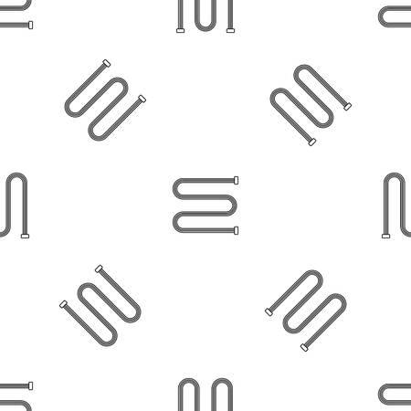 Towel bath radiator icon. Outline illustration of towel bath radiator vector icon for web design isolated on white background
