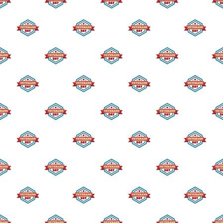 Star veterans day pattern seamless vector