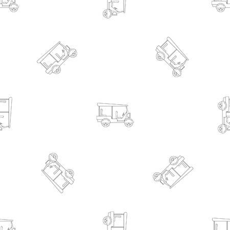Taxi rickshaw icon. Outline illustration of taxi rickshaw vector icon for web design isolated on white background Ilustração