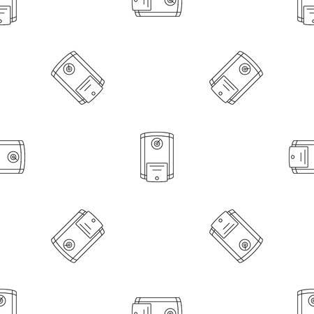 Boiler icon. Outline illustration of boiler vector icon for web design isolated on white background Vector Illustration