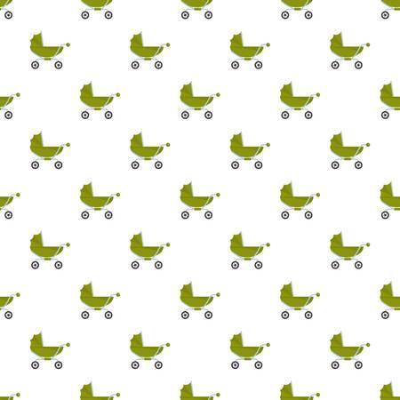 Repetición de vector transparente de patrón de cochecito de bebé clásico para cualquier diseño web