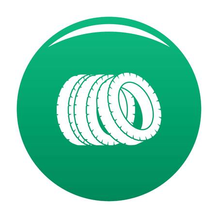Pile of tire icon. Simple illustration of pile of tire vector icon for any design green