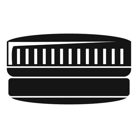 Contact len case icon, simple style Banco de Imagens