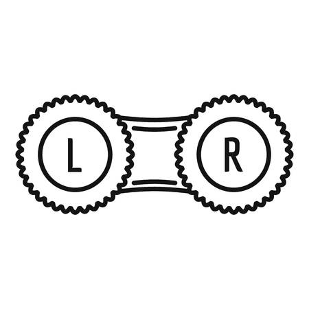 Contact lens case icon, outline style