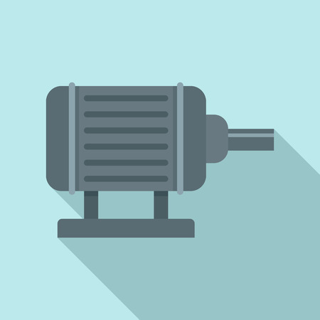 Motor pump irrigation icon, flat style