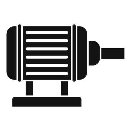 Motor pump irrigation icon, simple style