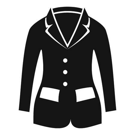Horse riding jacket icon, simple style Stock Photo