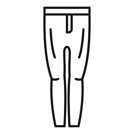 Horse riding pants icon, outline style Stock Photo