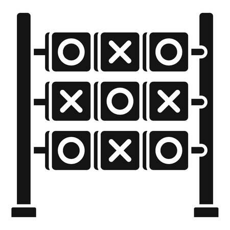 Circle cross game icon, simple style Stok Fotoğraf