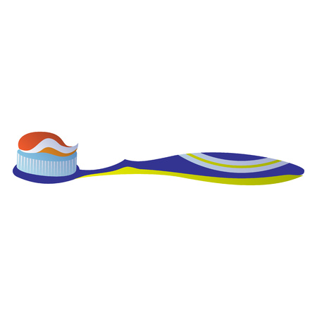 Toothbrush with toothpaste icon, cartoon style Banco de Imagens - 114699287