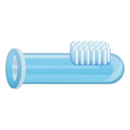 Toothbrush glass tube icon, cartoon style