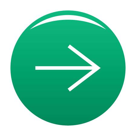 Arrow icon green Banque d'images - 114700168