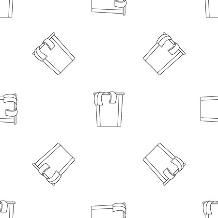 Box dirt clothes icon, outline style