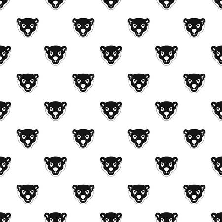 Head of furious polar bear pattern seamless vector repeat geometric for any web design