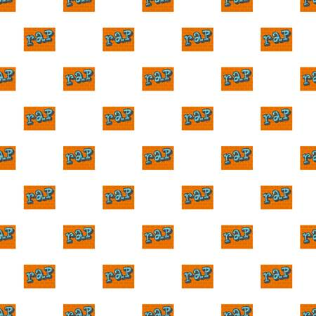 Rap on bricks wall pattern seamless vector Stock Illustratie