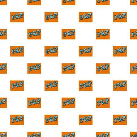 Rap on bricks wall pattern seamless vector Illustration